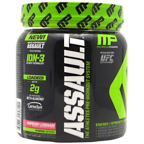 assault pre workout drink musclepharm