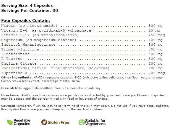 ingredient list Cognitive Balance